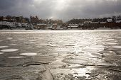 Icy Harbor in front of Gamla Stan