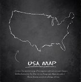 USA map blackboard chalkboard vector