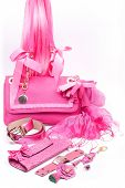 pink fashion accessories