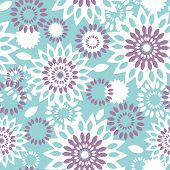 Purple and blue floral abstract seamless pattern background