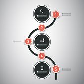 Infographic Concept - Flow Chart Design - Timeline
