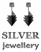 Fashion Jewelry Earrings Silver
