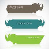 Vector Image Of An Rhino Banners