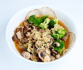 Chicken, Broccoli, Mushroom And Sliced Meat Enhanced Japanese Ramen