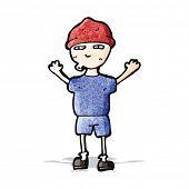 cartoon boy in hat