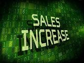 Sales Increase Words Isolated On Digital Background