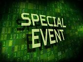 Special Event Words Isolated On Digital Background