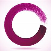 Violet paintbrush circle vector frame