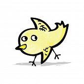 cartoon little yellow bird