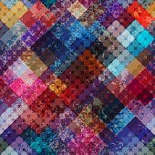 Diagonal Geometric Grunge Pattern.
