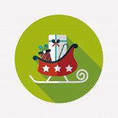 Christmas Sleigh Gift Flat Icon