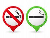 Smoking And No Smoking Area