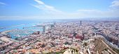 Panoramic view of Alicante in Spain