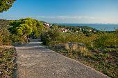 Foothpath To The Hill On Murter Island, Croatia