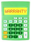 Calculator With Warranty On Display Isolated
