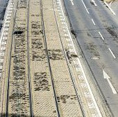 Pattern Of Street And Rails Of Streetcar In Cologne