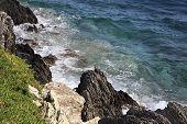 Waves Of The Aegean Sea.