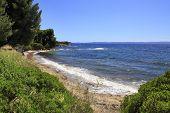 Beautiful Coast Of The Aegean Sea.