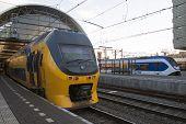 Yellow train like passengers.