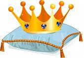 Corona de la reina en la almohada