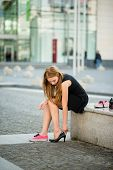 Changing shoes