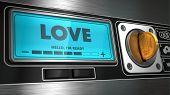 Love on Display of Vending Machine.