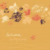 Horizontal Seamless Autumn Card