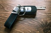 Car keys composing in gun shape