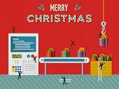 Christmas Gift Creative Factory Illustration Card