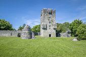 An image of a beautiful ruin near Corrib Ireland