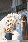 Medici Lion Near South Facade Of Alupka Palace