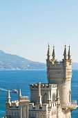 Swallow's Nest Castle On South Coast Of Crimea