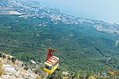 Cableway On Southern Coast Of Crimea