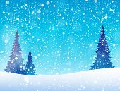 Snow theme background 5 - eps10 vector illustration.