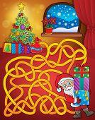 Maze 21 with Christmas theme - eps10 vector illustration.