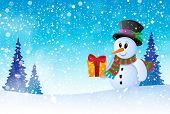Winter snowman theme image 8 - eps10 vector illustration.