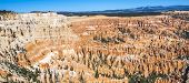 Great Spires Carved Away By Erosion In Bryce Canyon National Park