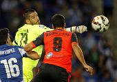 BARCELONA - OCT, 5: Kiko Casilla of RCD Espanyol in action during a Spanish League match against Real Sociedad at the Estadi Cornella on October 5, 2014 in Barcelona, Spain