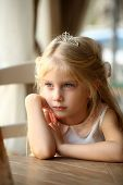 Portrait of beautiful little girl indoor