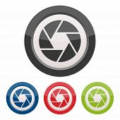 pic of objectives  - Camera objective icon as a symbol of camera objective - JPG