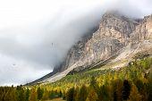 Autumn at Passo Falzarego, Dolomites, Italian Alps