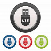 USB flash drive, universal serial bus icon