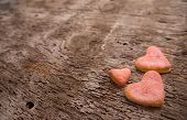 Yummy Heart biscuits On The Table