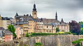 Dramatic Sky Over Luxembourg City