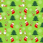 Seamless Christmas Pattern - Illustration