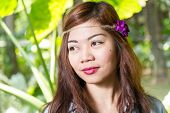 pic of filipina  - Pinoy woman in a green garden on farm - JPG