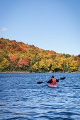 Canoeing during the fall