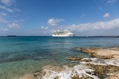 pic of cruise ship caribbean  - White Luxury Cruise Ship Docked at St Croix - JPG