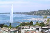 picture of water jet  - The city of Geneva - JPG