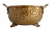 Old Brass Ornamental Flowerpot